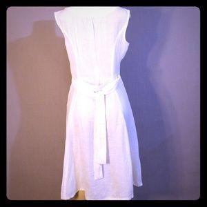 Off white linen summer dress